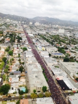 <p>Over 130K people marched from Sunset Blvd to Turkish Embassy- ariel view. </p>