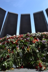 <p>Armenian Memorial in Yerevan - where thousands laid flowers that mounted to several feet high.</p>