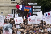 <p>Protest in Paris, April 24, 2015</p>