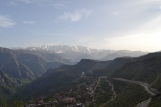 <p>view from cable car (world's longest) on the way to Tatev monastery</p>