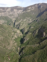 <p>View from cable car to Tatev Monastery</p>