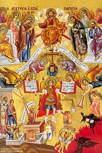 Christ last judgement icon