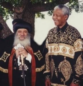 Pope Shenouda III - Nelson Mandela